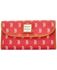 Dooney And Bourke Boston Red Sox Mlb Large Continental Clutch