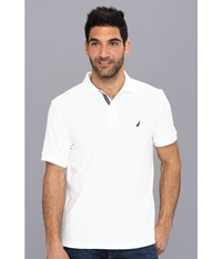 Nautica S S Solid Polo With Tape Bright White Men's Short Sleeve Pullover