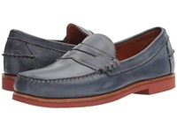Allen Edmonds Sedona Navy Leather Men's Slip On Dress Shoes Blue