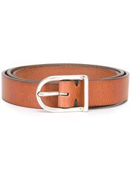 Eleventy Buckle Belt Brown