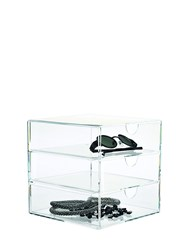 Nomess Clear 3 Drawer Organizer Transparent