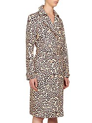 Givenchy Jaguar Print Cotton Trench Coat Cheetah