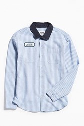 Xlarge X Large Service Button Down Shirt Sky