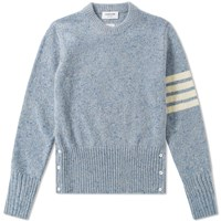 Thom Browne Classic Donegal Short Crew Knit Blue