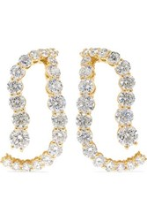 Melissa Kaye Aria Skye 18 Karat Gold Diamond Earrings One Size