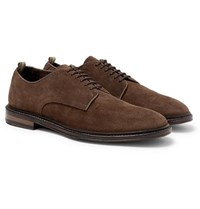 Officine Creative Cornell Suede Derby Shoes Brown