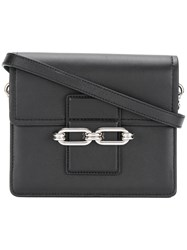 Michael Kors Cate Chain Shoulder Bag Women Calf Leather Metal One Size Black