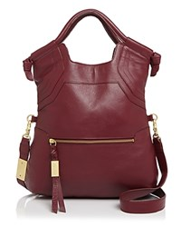 Foley Corinna And Essential City Tote Bordeaux Red Gold