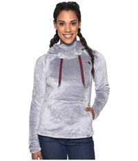 The North Face Bellarine Hoodie Mid Grey Deep Garnet Red Women's Sweatshirt Gray