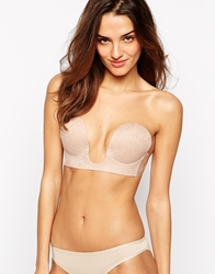 Fashion Forms U Plunge Lace Backless Strapless Bra Nude