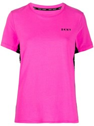 Dkny Logo Side Panel T Shirt 60