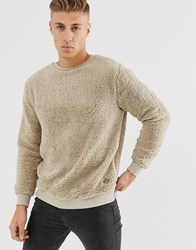 Soul Star Teddy Jumper In Beige Stone