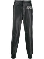 Alexander Mcqueen Drawstring Leather Track Trousers 60