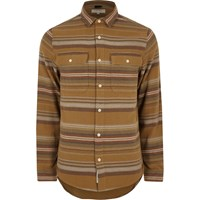 River Island Menscamel Aztec Striped Shirt
