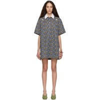 Eckhaus Latta Multicolor Floral Polo Dress
