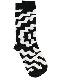 Henrik Vibskov Patterned Ankle Socks Unisex Cotton Nylon Spandex Elastane One Size Black