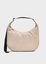 Baggu Large Crescent Bag In Stone Leather