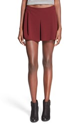 Lily White Pleat Front Knit Shorts Royal Port