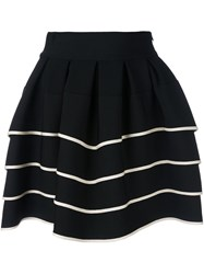 Fausto Puglisi Striped Full Skirt Black