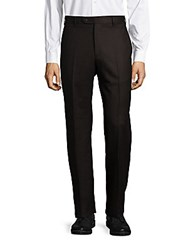 Zanella Todd Textured Dress Pants Dark Brown