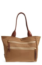 Frye Ivy Nylon Shoulder Tote Brown Tan