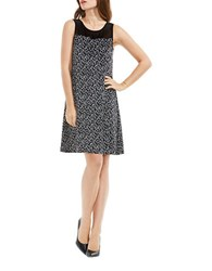 Vince Camuto Dotted Harmony Swing Dress Black