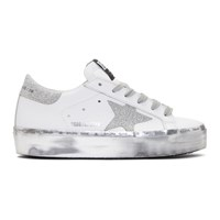 Golden Goose White Hi Star Platform Sneakers