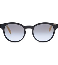 Etnia Barcelona Basquiat 03 Fallen Angel Cat Eye Frame Sunglasses Blue