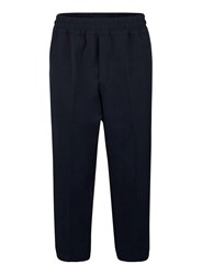 Topman Blue Lux Navy Cropped Trousers