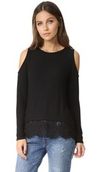 Generation Love Martha Cold Shoulder Sweater Black