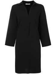 Vince Shirt Collar Shift Dress Black