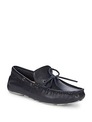Ugg Everton Leather Loafers Navy