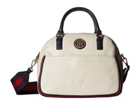 Tommy Hilfiger Alice Pebble Satchel Oatmeal Satchel Handbags Brown
