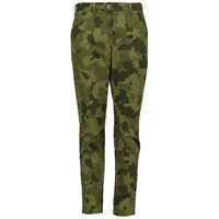 Lords Of Harlech Jack Chino In Olive Houndstooth Camo 34 Inseam Brown Green Neutrals