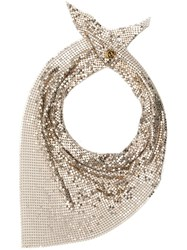 Paco Rabanne Chainmail Triangle Scarf Gold