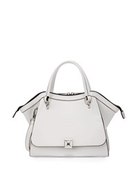 Charles Jourdan Oksana 2 Leather Satchel Bag White