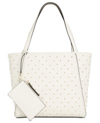Inc International Concepts I.N.C. Quiin Quilted Studded Extra Large Tote Created For Macy's Vanilla