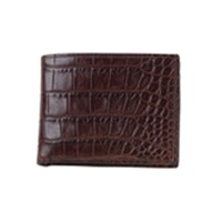 Moore And Giles Alligator Leather Bi Fold Wallet Chocolate Alligator