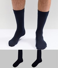 Selected Homme Socks 2 Pack Navy Navy