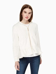 Kate Spade Mrs. Zip Up Sweatshirt Cream