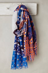 Anthropologie Ona Dotted Scarf Blue