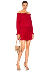 Norma Kamali Peasant Dress In Red