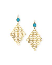 Turquoise Chain Link Statement Earrings Devon Leigh