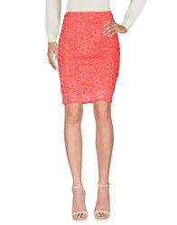 Christies A Porter Knee Length Skirts Coral
