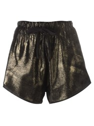 10Sei0otto Metallic Grey Gold Tone Shorts