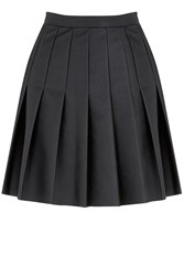 Oasis Faux Leather Skirt Black