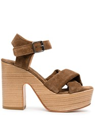 Moma Cross Strap Platform Sandals 60