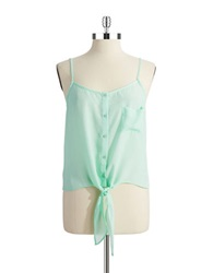 Collective Concepts Tie Front Tank Mint