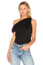 Torn By Ronny Kobo Lilah Solid Ponte Top Black