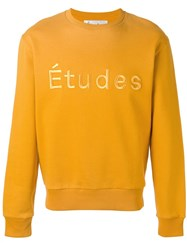 Etudes Logo Sweatshirt Yellow Orange